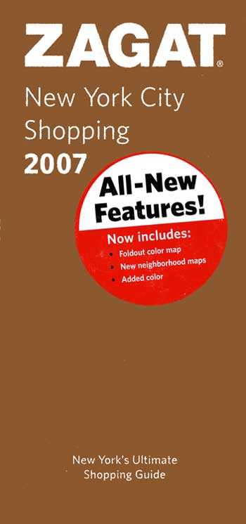 Zagat 2007 New York City Shopping Guide