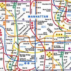 nyc subway map fabric white