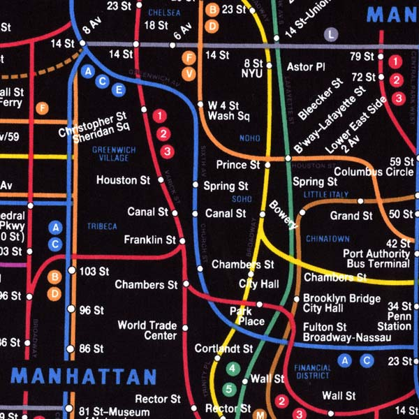 Nyc Subway Map Fabric Black Cityquilter Com
